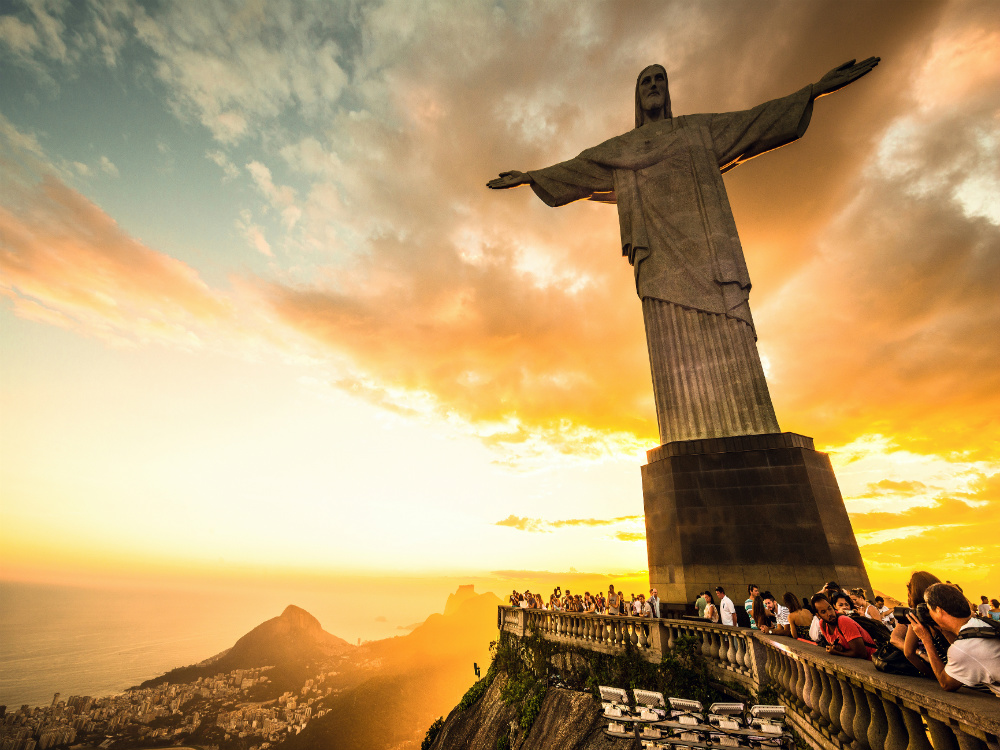 photo of Jesus the Redeemer statue in Brazil
